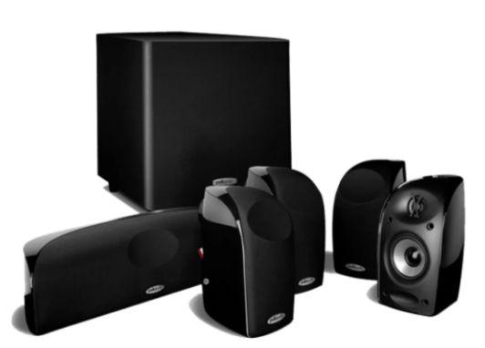 Conjunto de Caixas Acústicas 5.1 com Subwoofer Ativo Polk Audio TL1600 -  Black - 110V / 220V