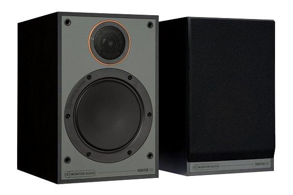 Monitor Audio SM100 - Par de Caixas Acústicas Bookshelf 30-100W - Black / White / Walnut