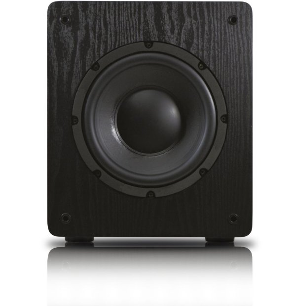 """Subwoofer ativo para Home Theater Wave Sound WSW8 175W RMS 8"""" - Black / White- 120V"""