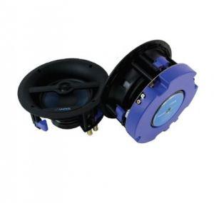 Kit Caixas de Som de Embutir Ativa Quadrada Tela Slim com Bluetooth e Controle Remoto Wave - Black / White