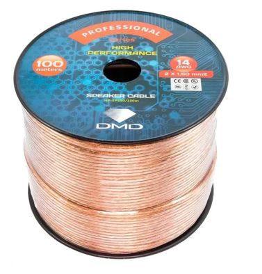 Diamond Cable HP-SP150 - Cabo para caixas acústicas 2x1,50mm 14 AWG Cristal - 100 metros