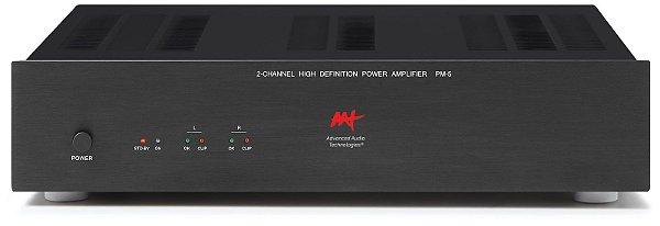 Amplificador de potência AAT PM-5 - 2 canais 300W / 600W RMS máximo - Bivolt