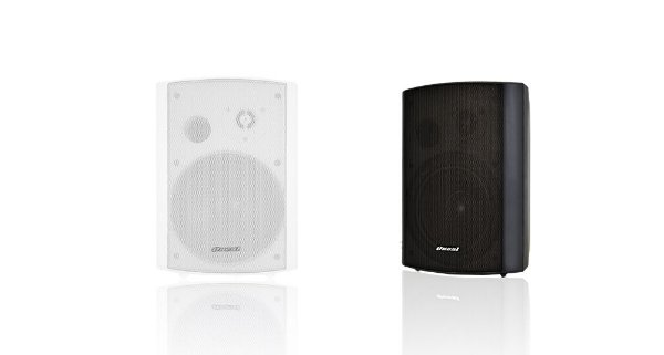 Par de Caixas de Som 80W - Oneal Audio OB-215 - Black/White