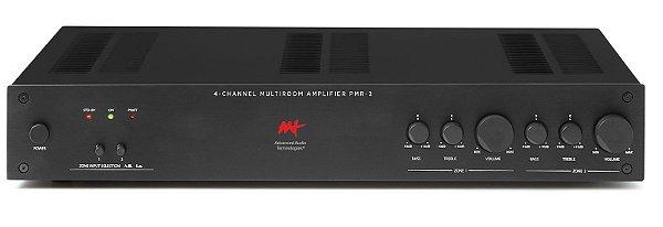 Amplificador multiroom Advanced Audio Technologies - 2 zonas e 4 canais 200W / 400W RMS máximo - Bivolt