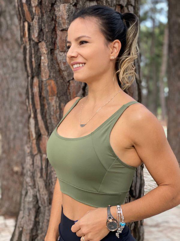 Top Run Sportiva Pro Alça Reta Marinho - Moda Fitness e