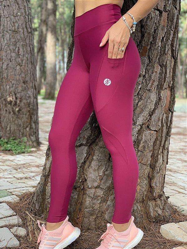 Calça Legging Performance Compress Cereja - Moda Fitness e