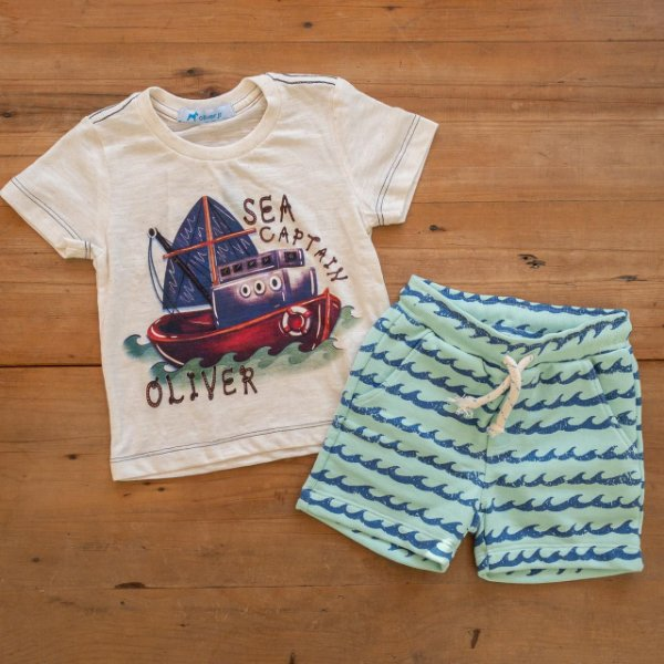Conjunto Camiseta e Bermuda Onda Oliver Tamanho 1