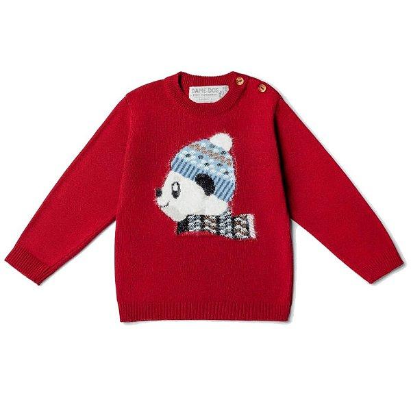 Blusa Infantil Panda Gorro Dame Dos Tamanhos P e 2