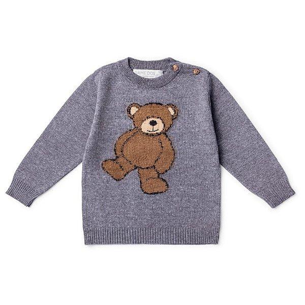 Blusa Urso Teddy Chumbo Dame Dos Tamanho G