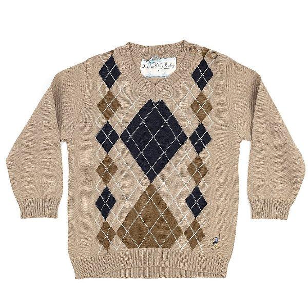 Blusa Infantil Masculina Dame Dos  Escocês Tamanho 1