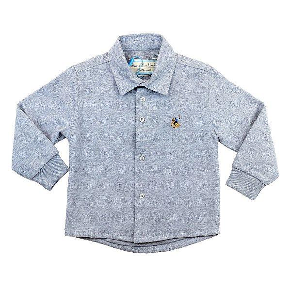 Camisa Infantil Masculina Lisa Forrada Dame Dos Tamanhos 1 e 2