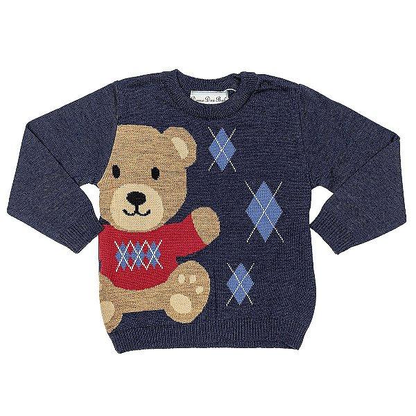 Blusa Infantil Masculina Urso Sweater Dame Dos Tamanho 1