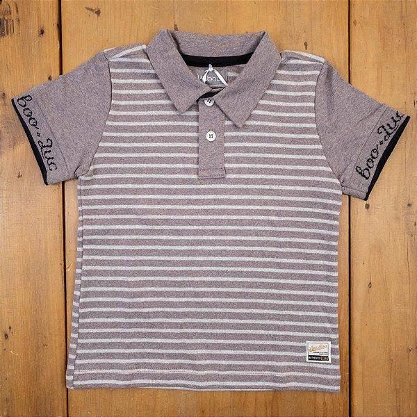 Camisa Polo Listrada Luc Boo Tamanhos 3 e 4