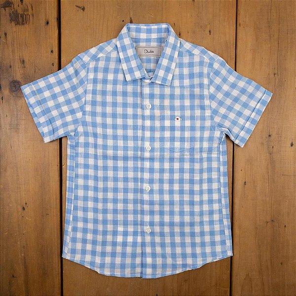 Camisa de Linho Xadrez Dudes Tamanhos 3 4 8