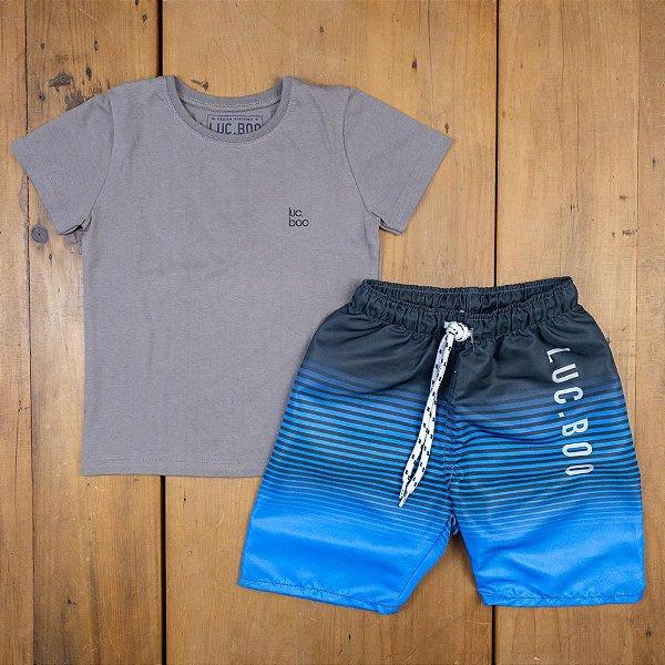 Conjunto Camiseta e Bermuda Luc Boo Tamanho 3