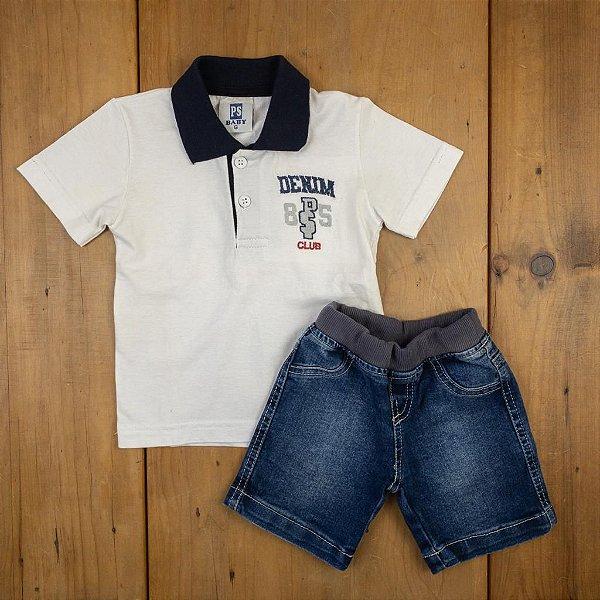 Conjunto Baby Camiseta e Bermuda Passagem Secreta Tamanho G