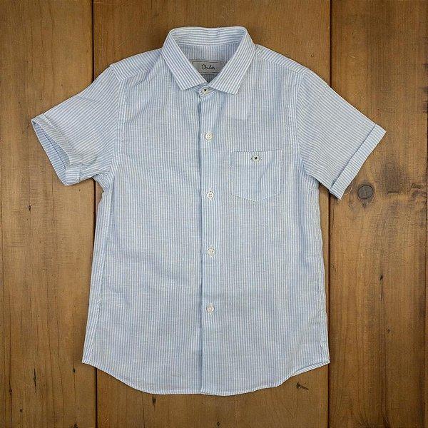 Camisa de Linho Listrada Dudes Tamanho 4