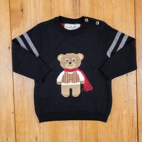 Blusa Infantil Urso Cachecol Dame Dos Tamanho 1
