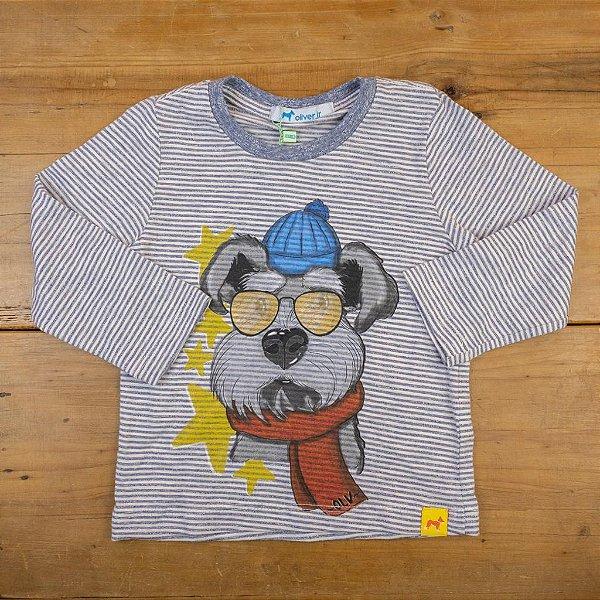 Camiseta Manga Longa Listrada Oliver Tamanho 1