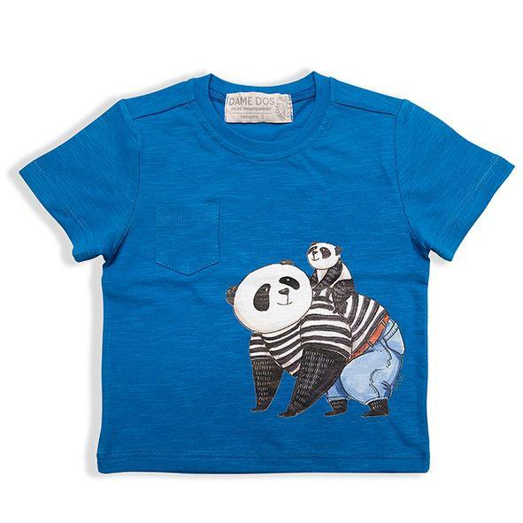 Camiseta Panda Bolso Dame Dos Tamanhos 1/2/3