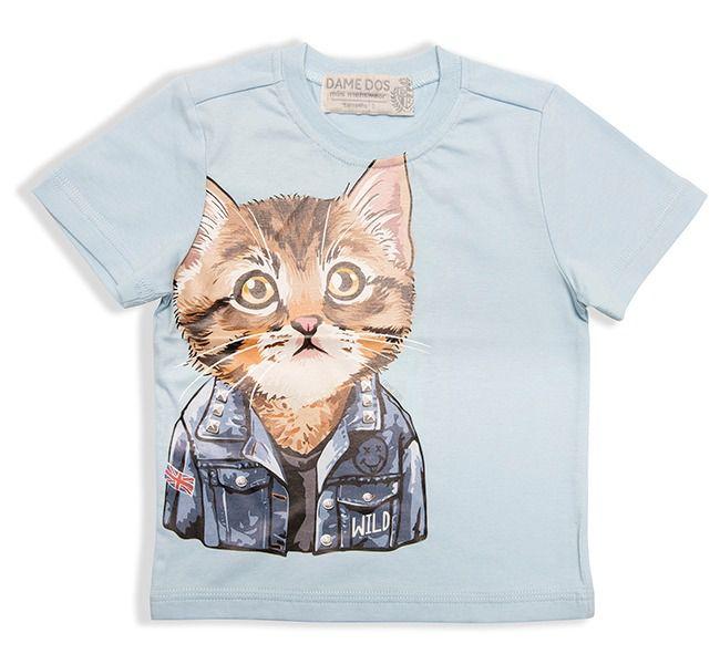 Camiseta Silk Cat Dame Dos Tamanhos 1/2/6