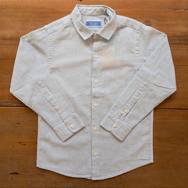 Camisa Linho Listrada Dudes Tamanho 6