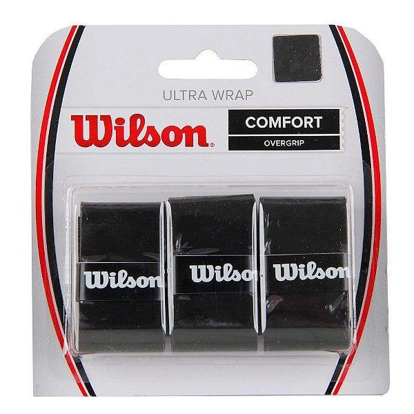 OVER GRIP ULTRA WRAP PRETO CART COM 3 WILSON