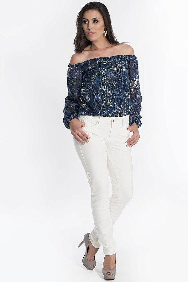 Calça Jeans Canal Skinny Off White