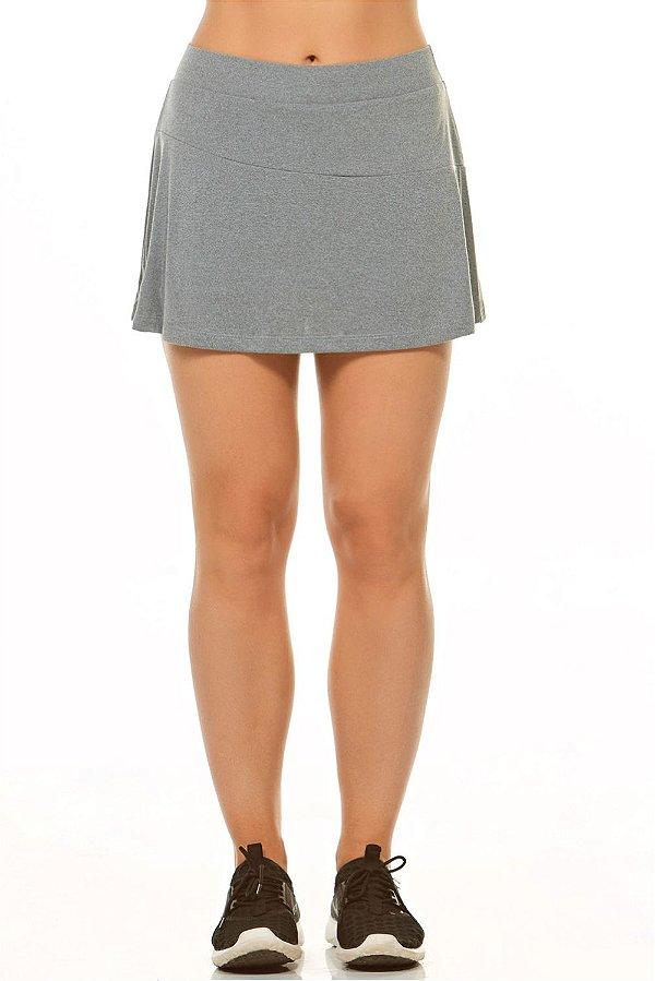 Shorts Saia Alto Giro Basic Cinza