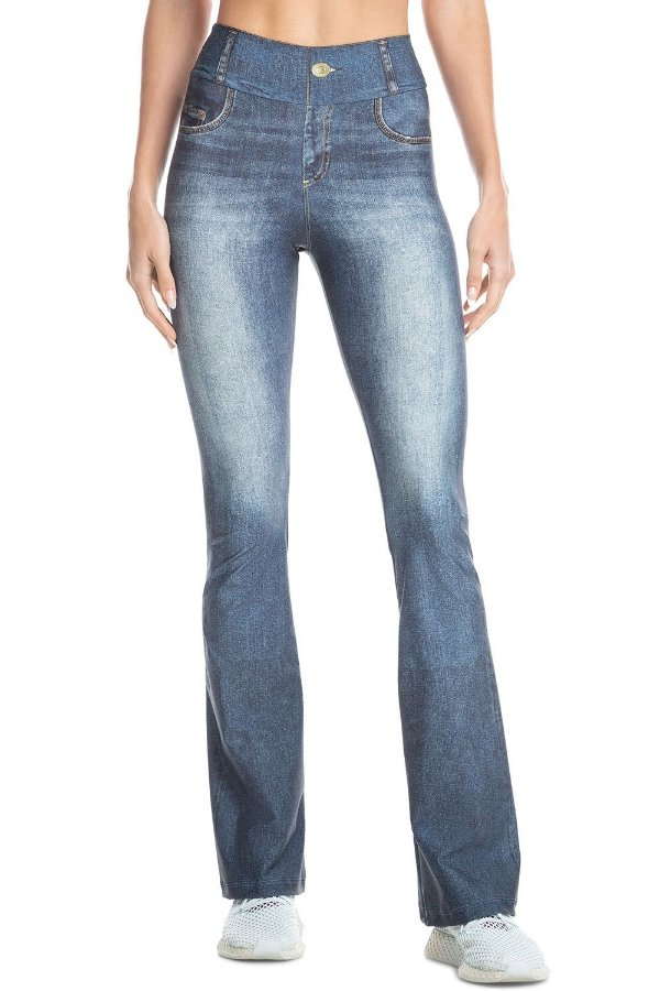Calça Flare Live Jeans Rush Blue