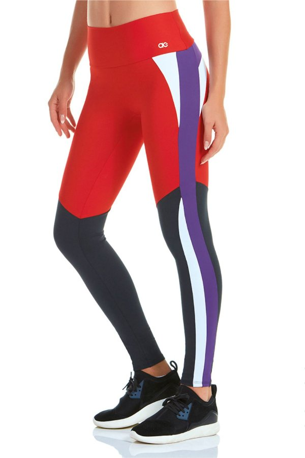 Calça Legging Alto Giro Blend Vermelha
