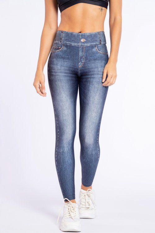 Calça Legging Jeans Live Blue Denim