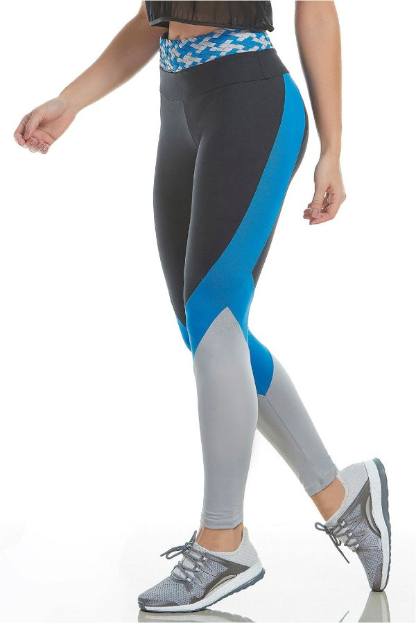Calça Legging Alto Giro Thássia Naves Athletic Biocolor Macramê