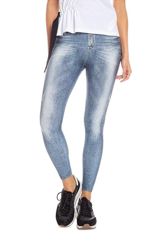 Calça Legging Jeans Live Daily Look Blue