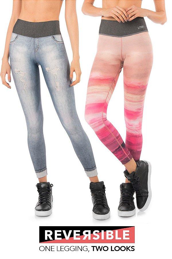 Calça Legging Live Reversible Dive Jeans