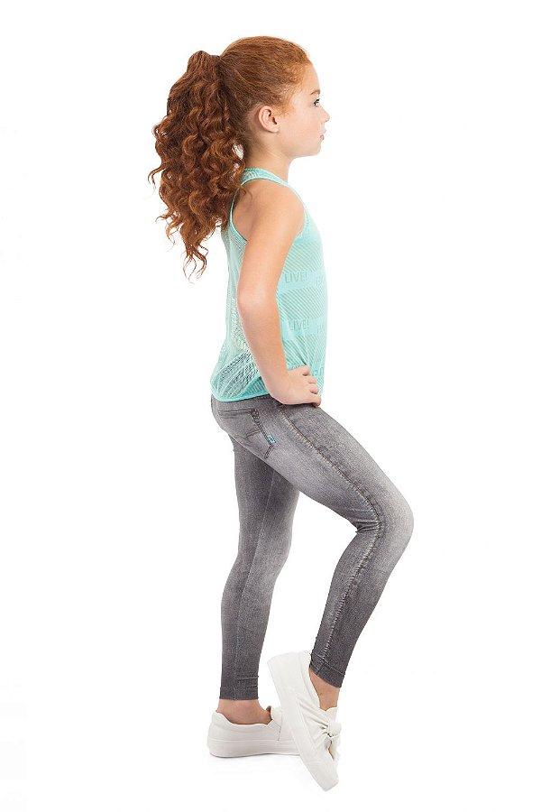 Calça Legging Jeans Live Infantil Boost Black