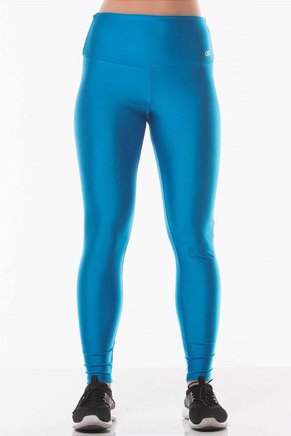 Calça Legging Alto Giro Atlanta Gloss Azul