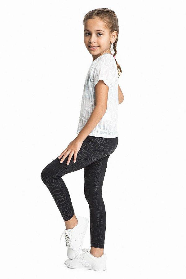 Calça Legging Live Infantil Flash Preta