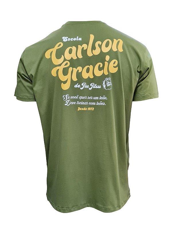 Camiseta Carlson Gracie Escola de Luta - Verde