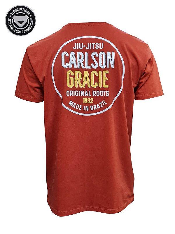 Camiseta Carlson Gracie Made in Brazil - Tijolo