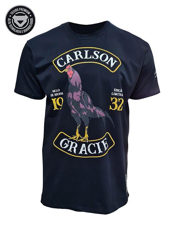 Camiseta Carlson Gracie Galo de Briga - Preta