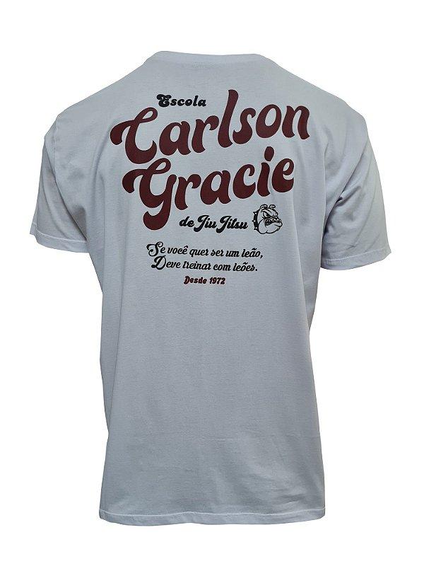 Camiseta Carlson Gracie Escola de Luta - Branco