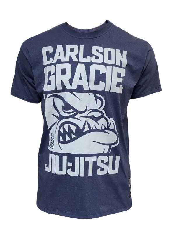 Camiseta Carlson Gracie Dog Face - Azul Mescla