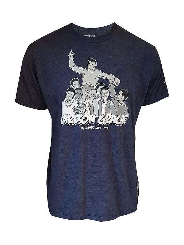 Camiseta Carlson Gracie Cartoon Azul Mescla