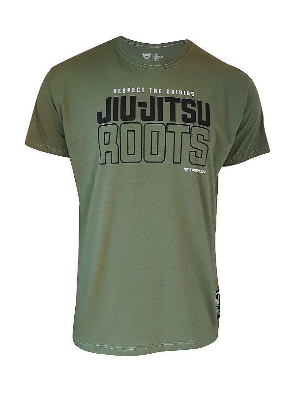 Camiseta Jiu-Jitsu Roots Verde Militar