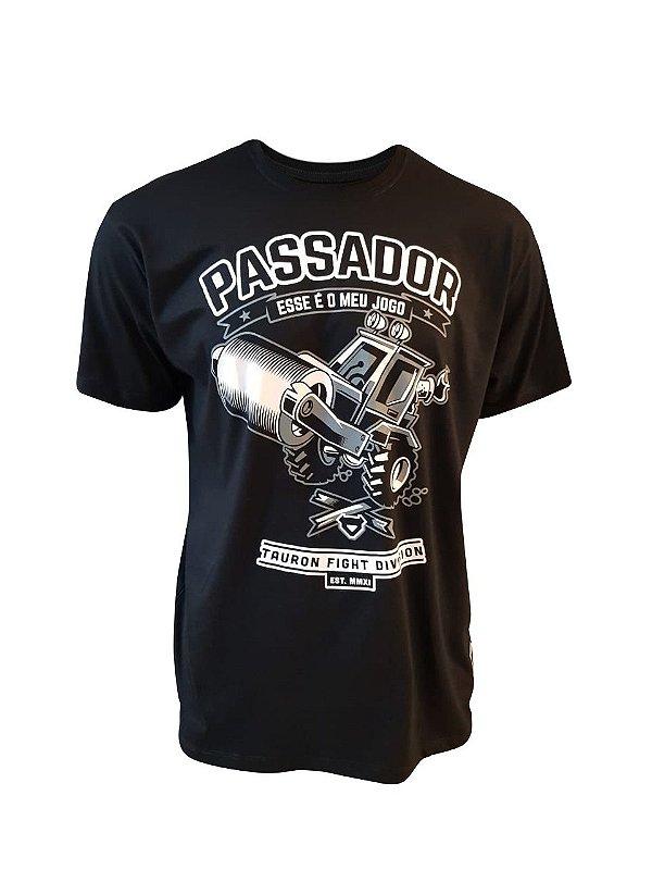 Camiseta Passador Jiu-Jitsu Tauron Preta