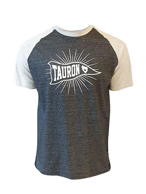 Camiseta Raglan Tauron Flag Mescla Grafite