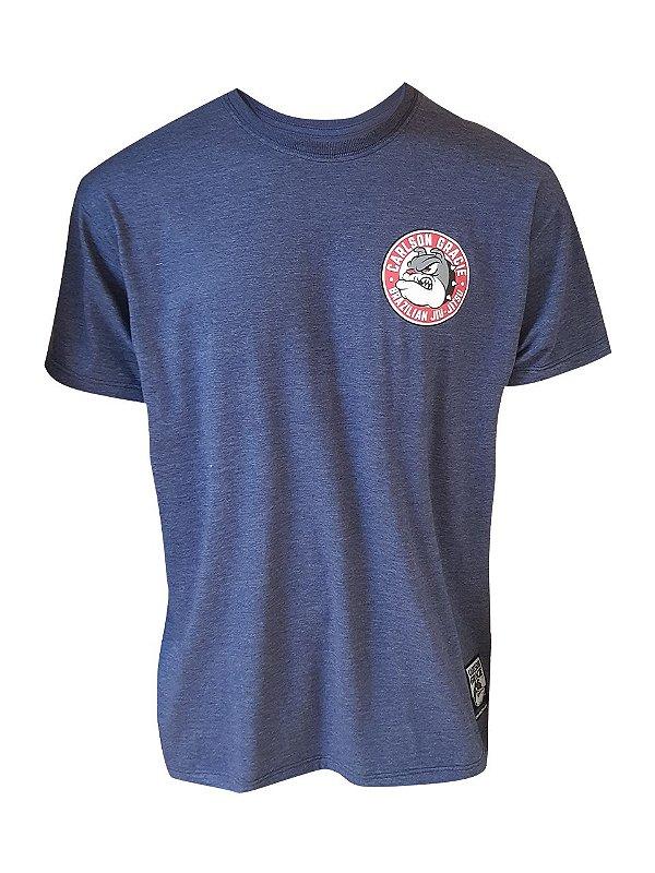 Camiseta Carlson Gracie Brazilian Jiu-Jitsu Red Azul Mescla