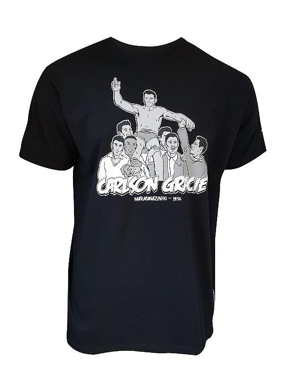 Camiseta Carlson Gracie Cartoon Preta