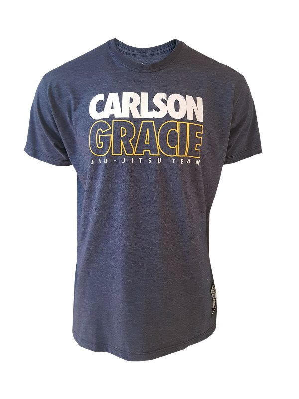 Camiseta Carlson Gracie Jiu-Jitsu Team Azul Mescla
